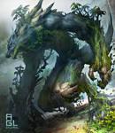 Wolf Kaiju by dinmoney