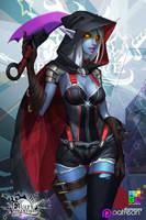 FA: Dark Elf by dinmoney