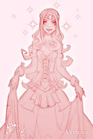 FA: Princess sketch by dinmoney