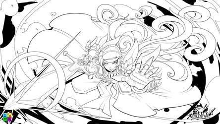 Commander Attack line art by dinmoney