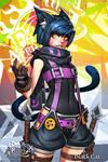 Faulty Apprentice: Black Cat by dinmoney