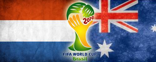 The football game Netherlands vs. Australia by Er0tism