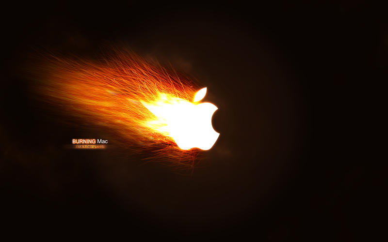 Wallpaper - Burning Mac by esharkj