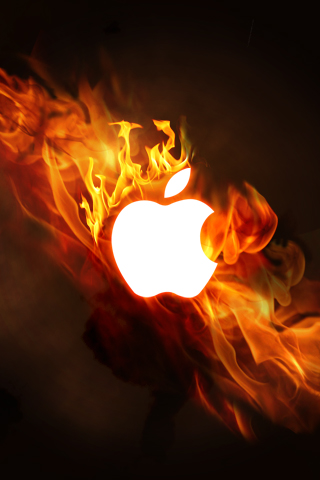iPhone Wallpaper - Burning Mac by esharkj on DeviantArt