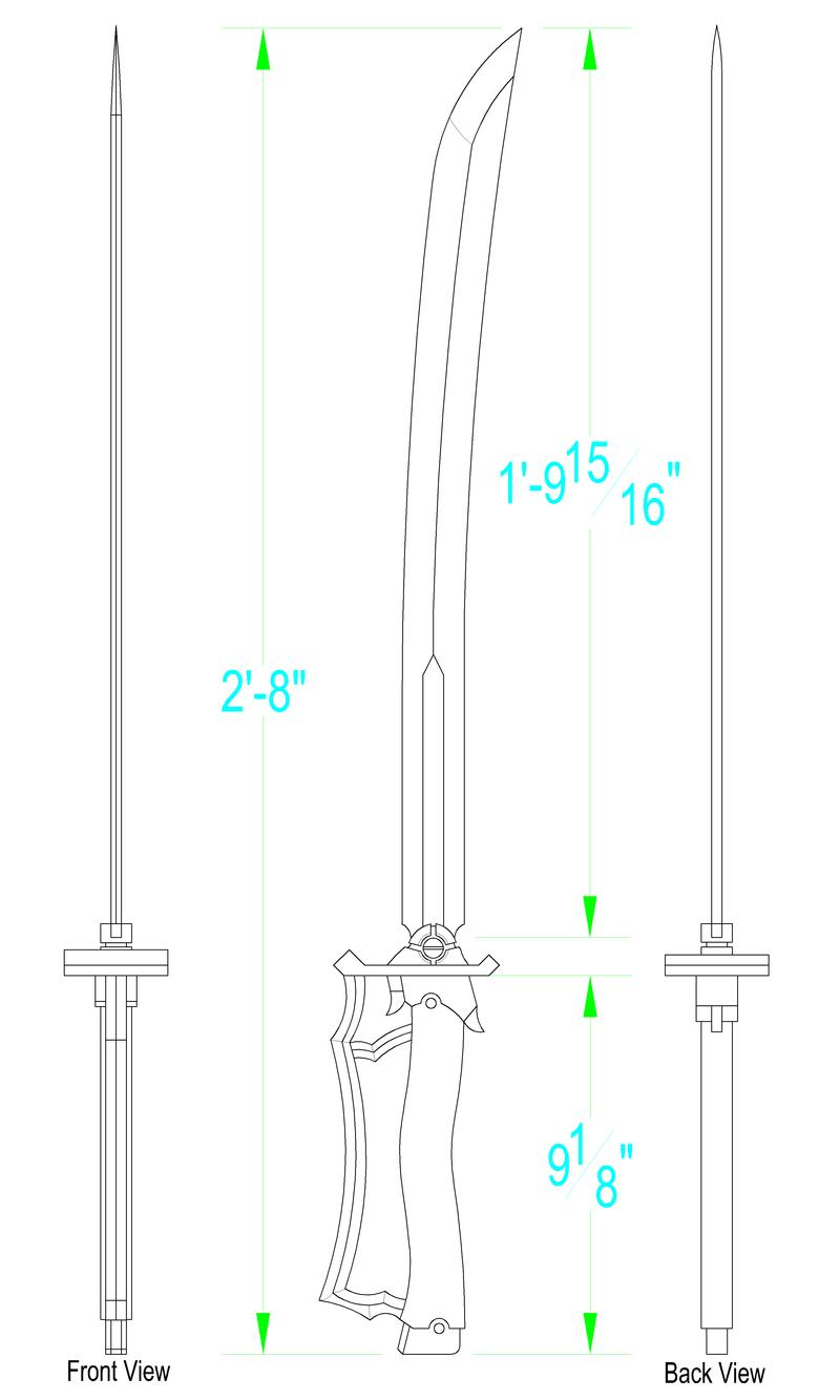 puella magi madoka magica sayakas sword template by