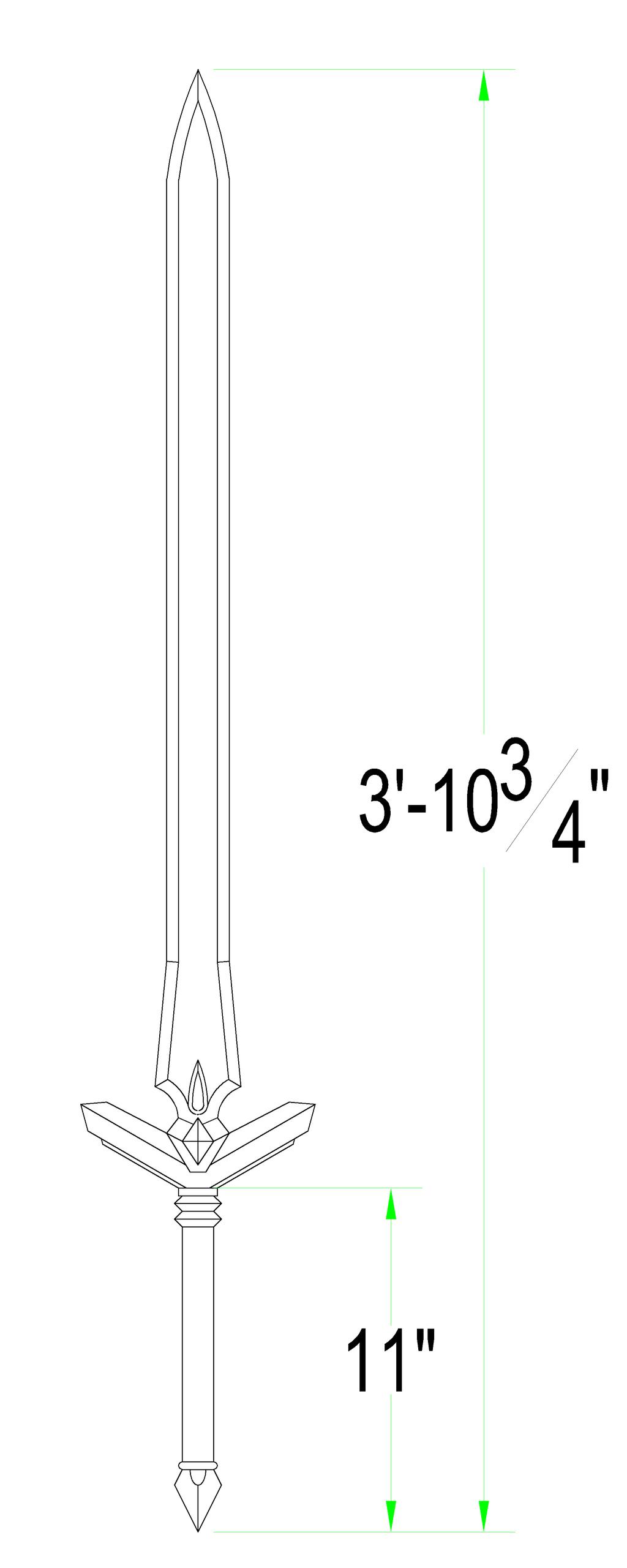 It is a picture of Gargantuan Sword Template Printable
