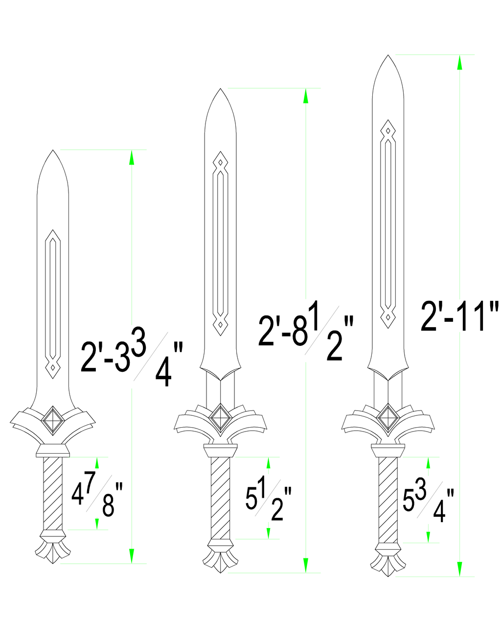 Skyward Sword: ALL Goddess Swords by Solvash on DeviantArt