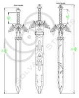 Legend of Zelda - BotW: Master Sword Template by Solvash