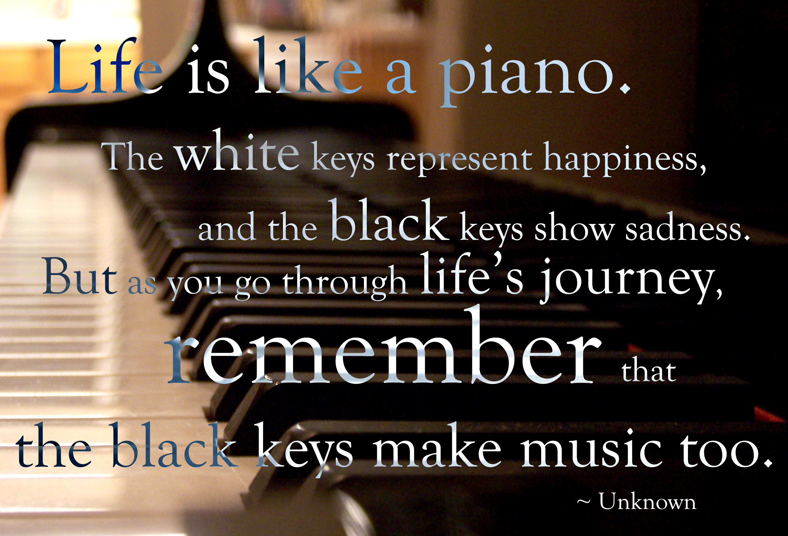 Unknown Quotes About Life Life Is Like A Piano.itsonlylevi On Deviantart