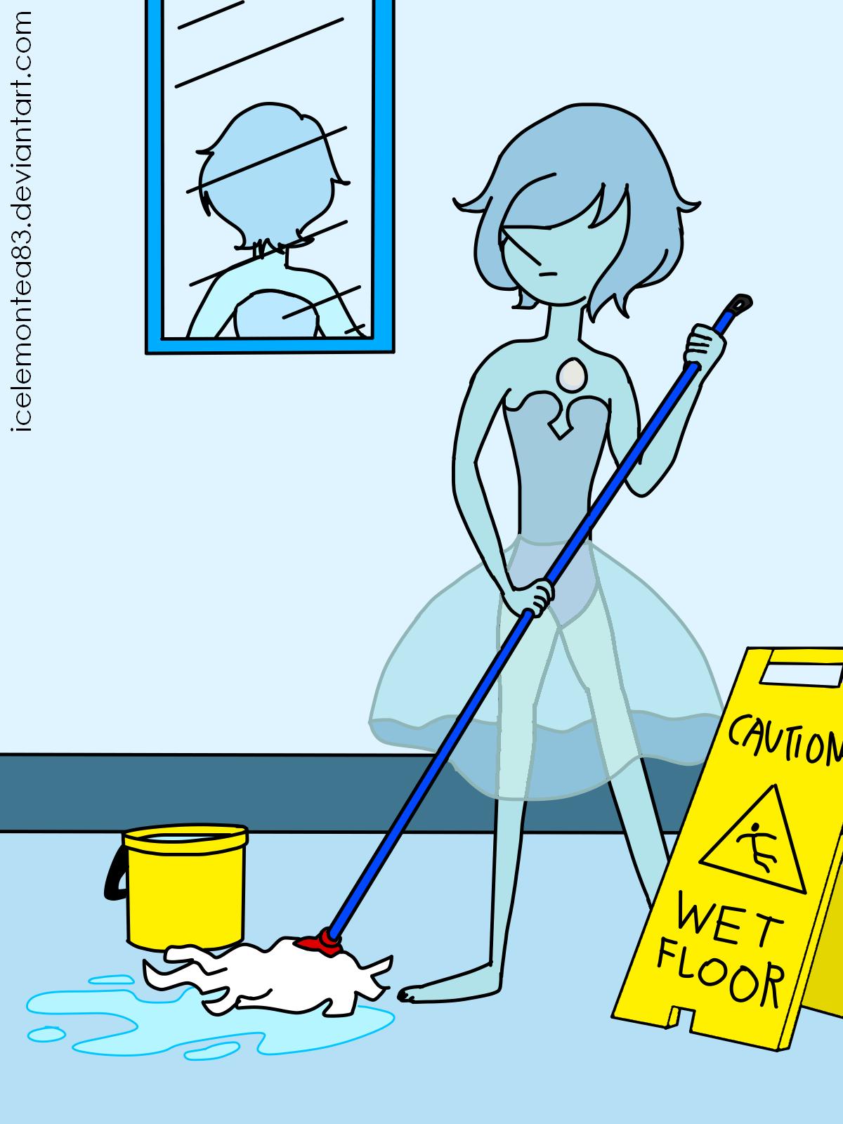 Toilet Blue Water