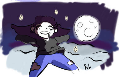 I float up to the moon
