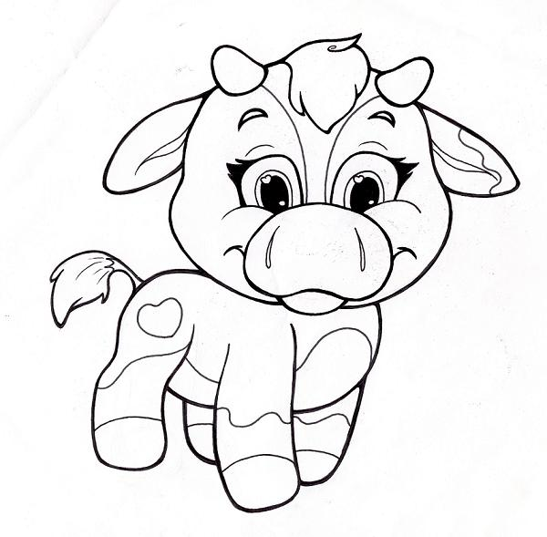 Free cow coloring pages for