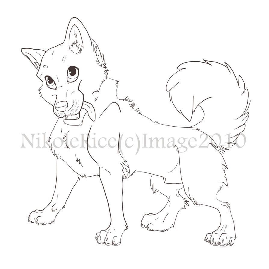 cute husky coloring pages - cute husky lineart by theforgottenmyth on deviantart