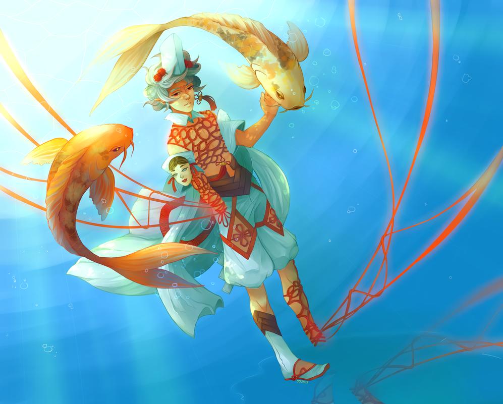 underwater by tabashio