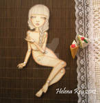 Phedre OOAK Jointed Paper Doll