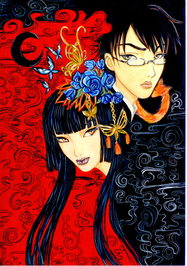 yuko and watanuki by hidetonadi