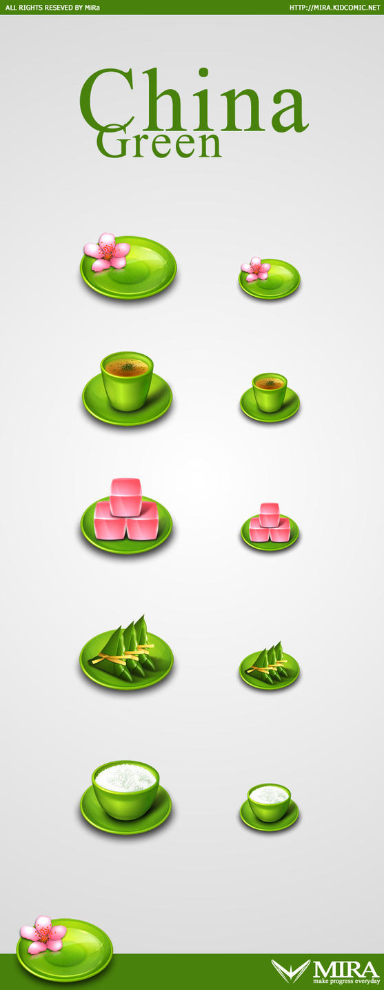 China Green icons by silencemira