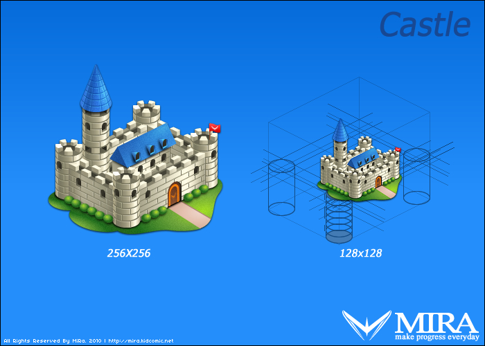 "Icon design ""Castle"" by silencemira"