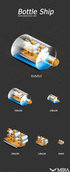 icon design 'bottle ship' by silencemira