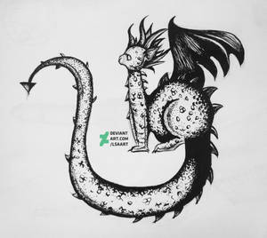 Dragon with ink