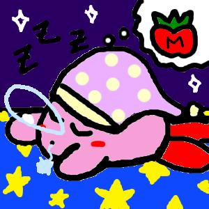 Snoozing Kirby by KirbyWindWaker