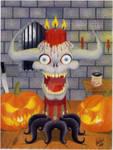 Demon Skull Candle