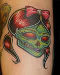 Girly Skull Tattoo
