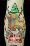 Camel head Ditch Digger Tattoo