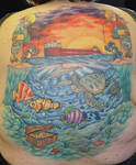 Under The Sea Backpiece Tattoo