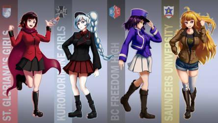 GuP X RWBY: Sensha-do Uniforms