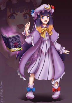Hololive x Touhou: Ina as Patchouli Knowledge