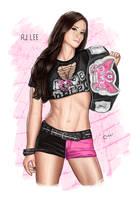 WWE AJ Lee by baguettepang