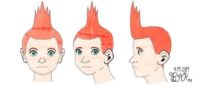 Naruto-Judge male head angles