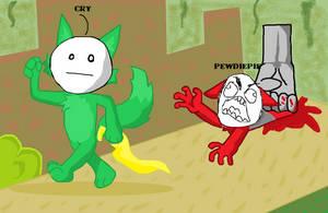 PewdieCry: Bloody Trapland by XxCrimsyxX