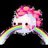 unicorn riding rainbow by k-rui