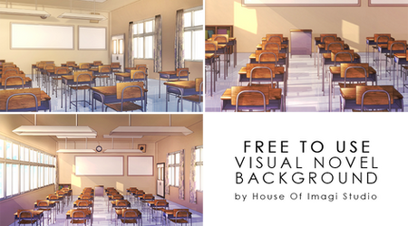 [Free To Use] School VN Background