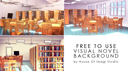 [Free To Use] Library VN Background