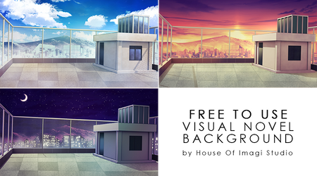 [Free To Use] Rooftop VN Background