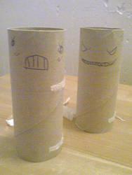 Toilet paper roll-art