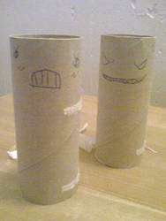 Toilet paper roll-art by Golgster
