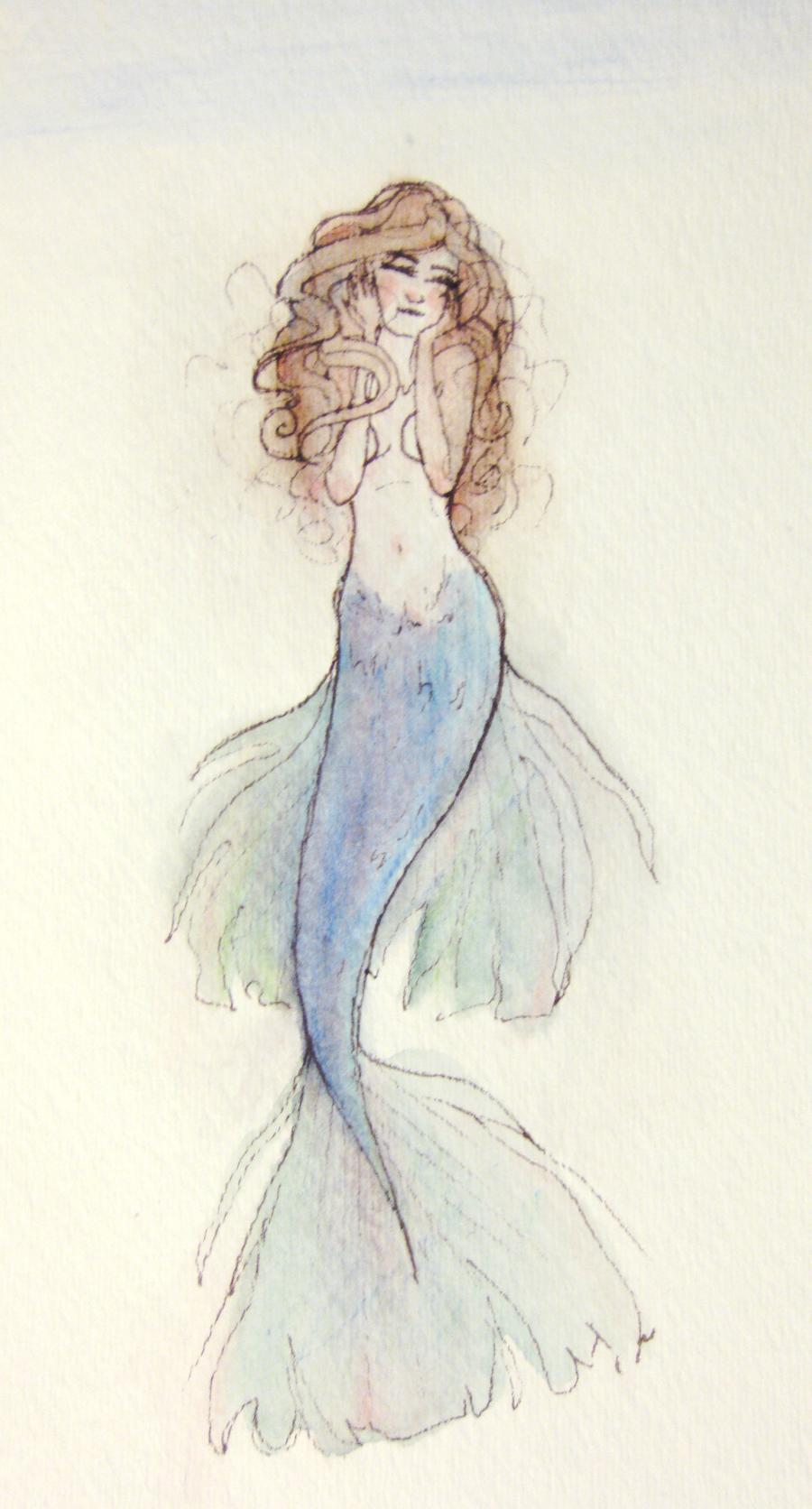 Watercolor Mermaid by Atlantistel on DeviantArt