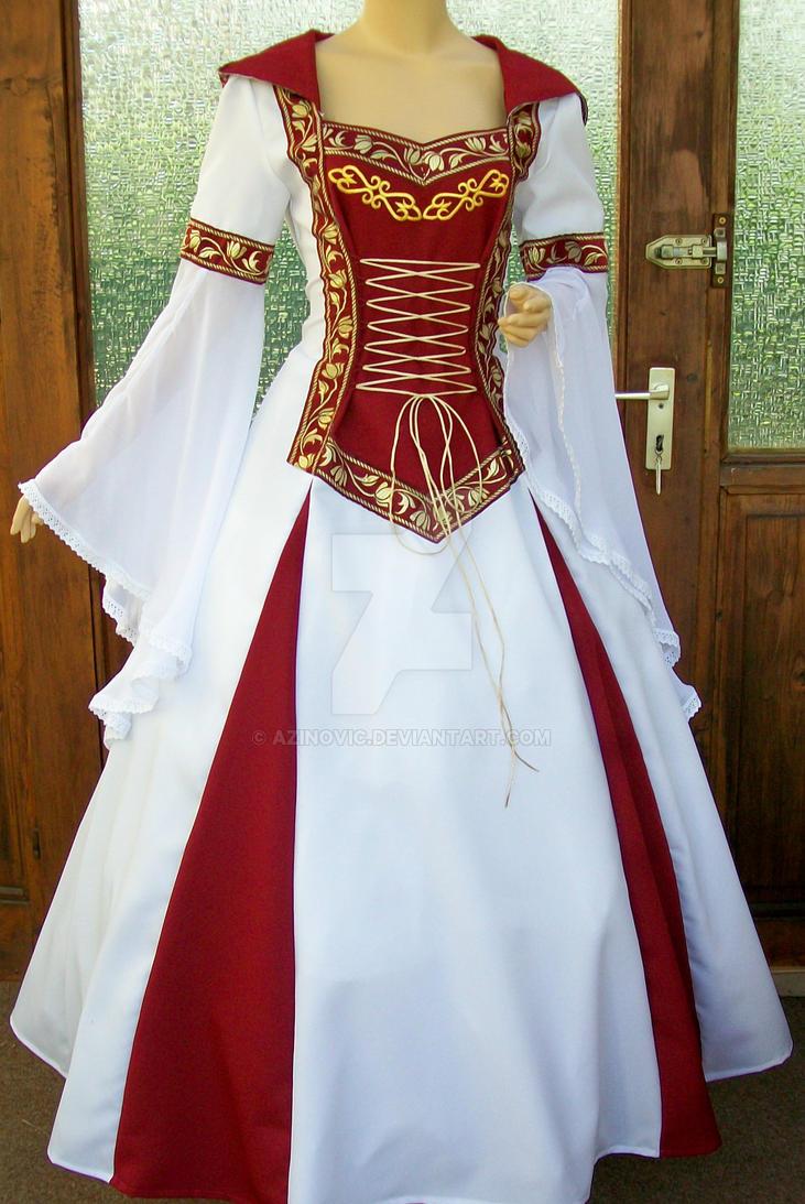 Medieval dress lorena by azinovic on deviantart for Celtic wedding dresses for sale