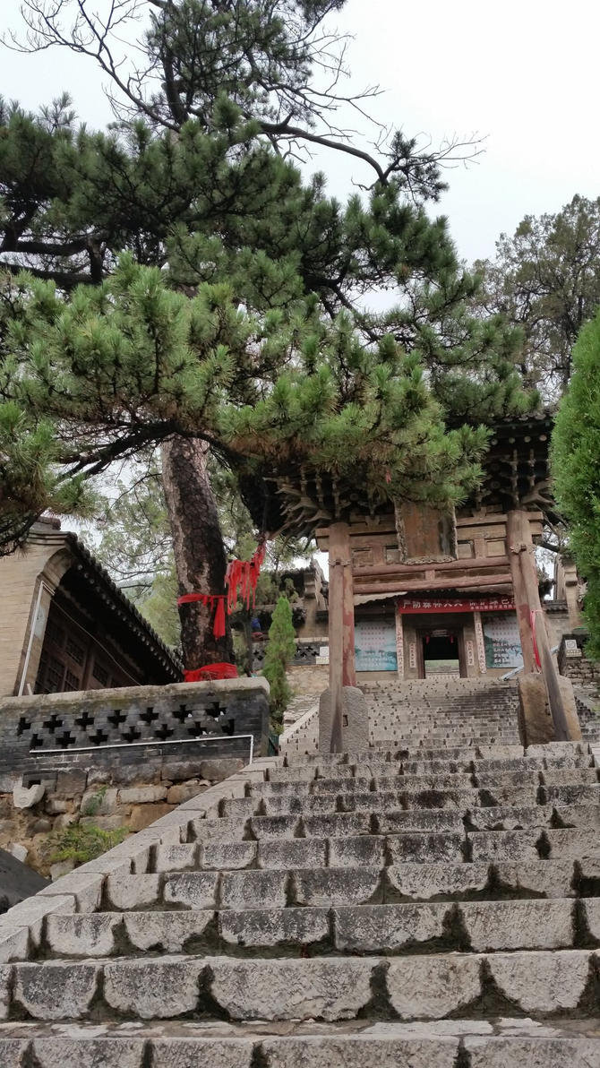 Stairs To The Shrine Of Princess Chaihua by RosVailintin