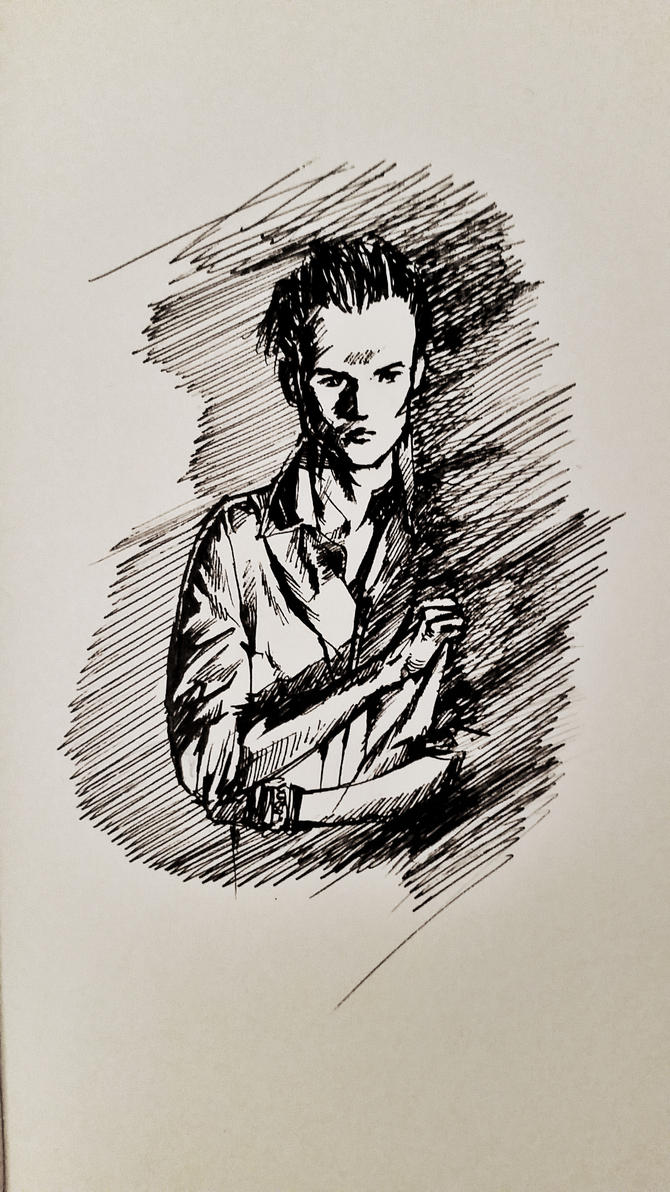 19 Feb 2017 Sketch of a Photo of Tristan Evans by RosVailintin