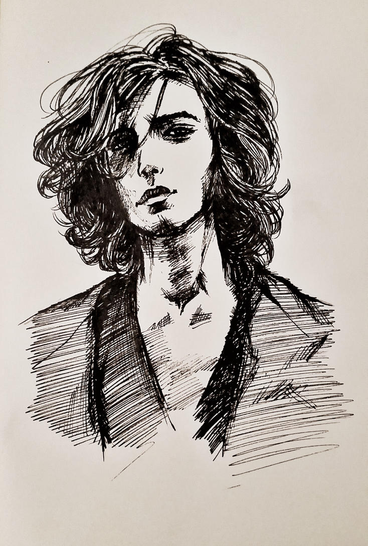 21 Feb 2017 Sketch of Ezra Miller by RosVailintin