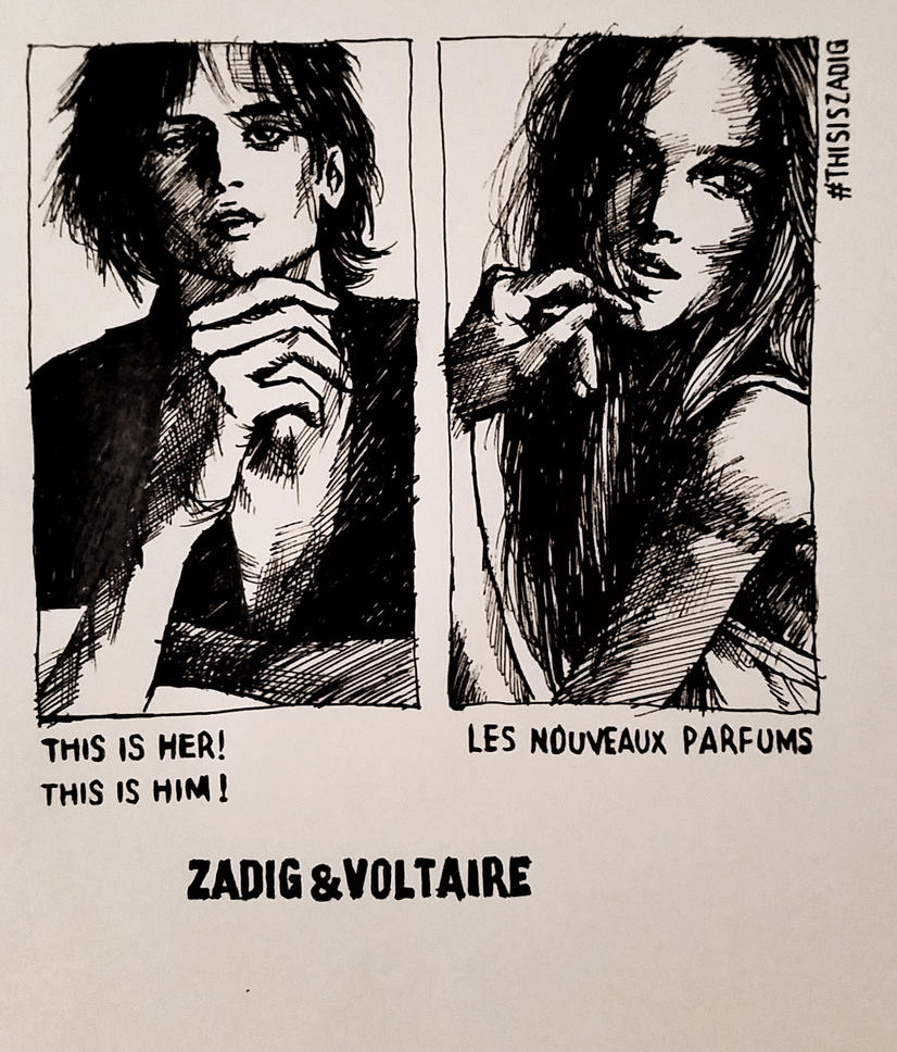 21 Feb 2017 Sketch of Zidag and Voltaire Poster by RosVailintin