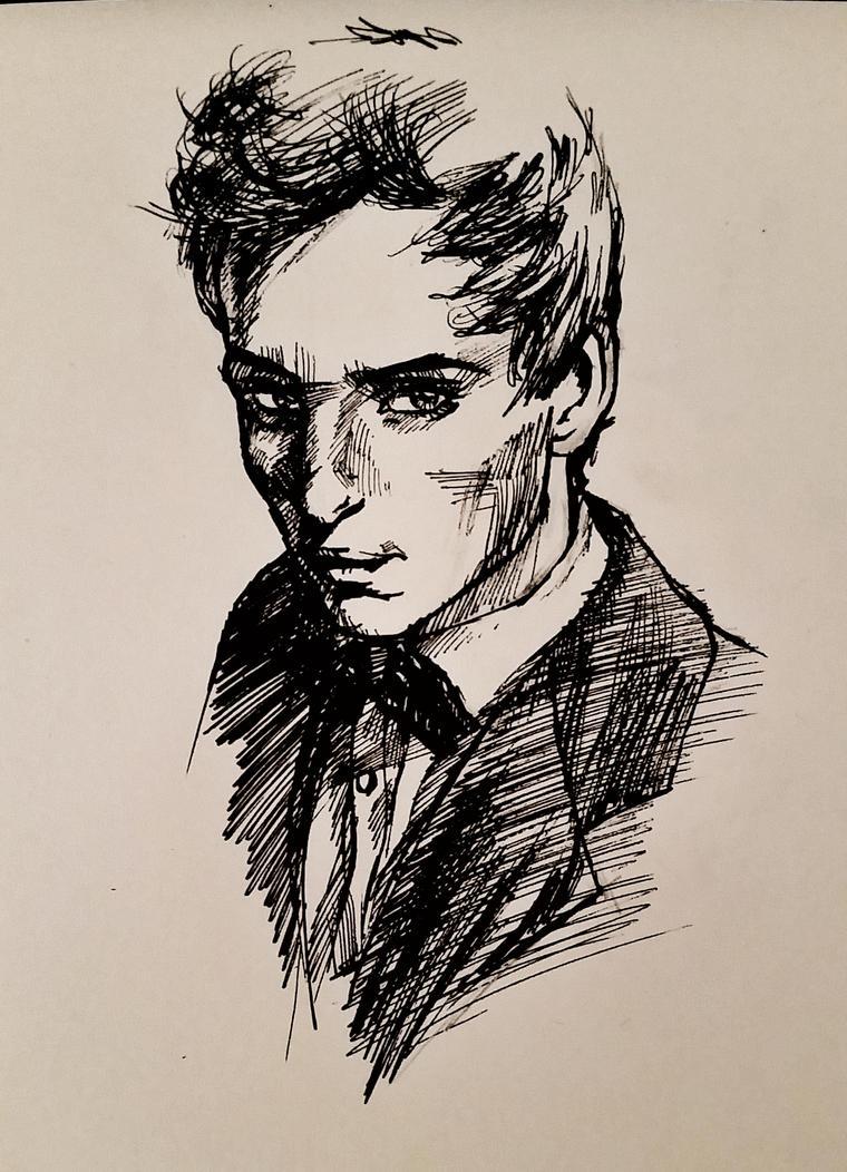 22 Feb 2017 Sketch of Eddie Redmayne by RosVailintin