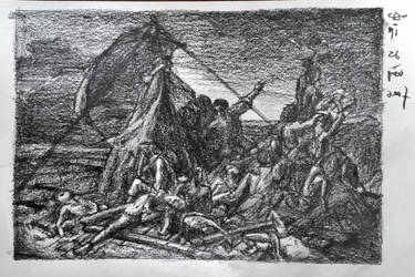 26 Feb 2017 Sketch of the Raft of the Medusa by RosVailintin