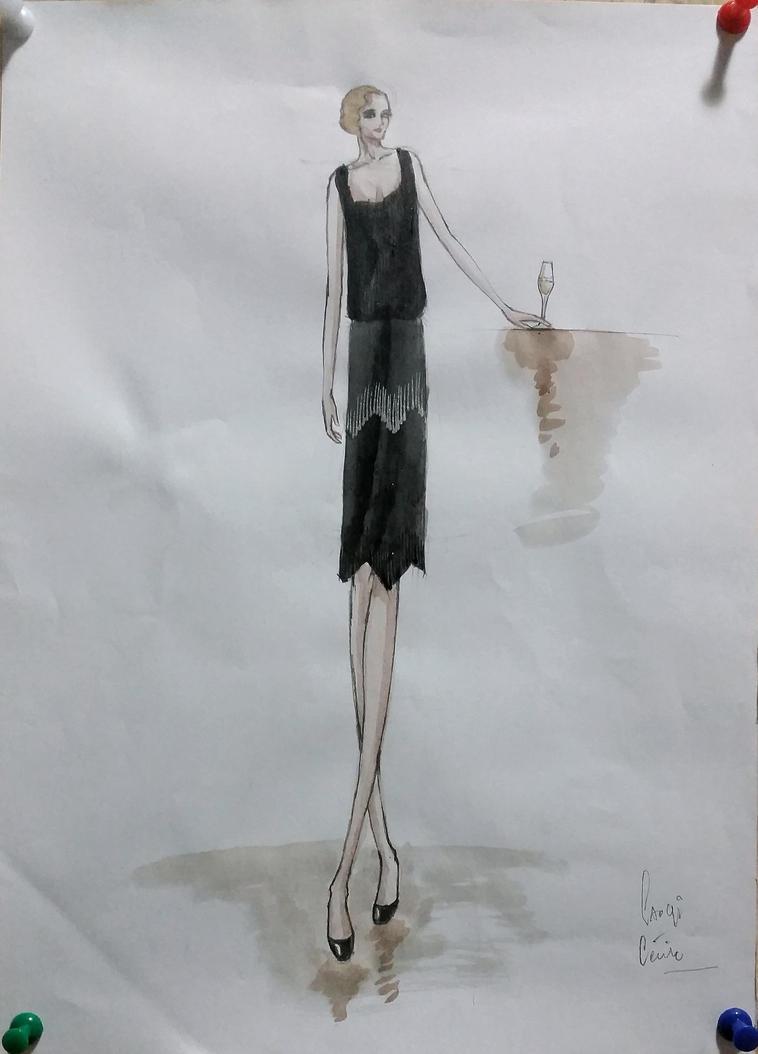 17 Apr 2017 Fashion Illustration by RosVailintin