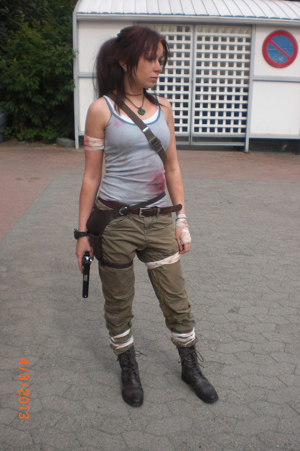Animecon 2013 ~ Tomb Raider ~ Lara Croft cosplay by xXGiggleDeathProXx